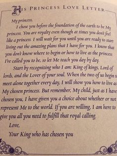 His Princess Love Letter