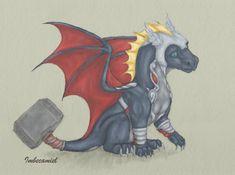 Baby Thor Dragon by Imbecamiel.deviantart.com on @deviantART