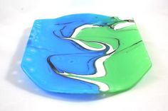 Blue And Green Swirl - by Pam Johnson. Delphi Artist Gallery