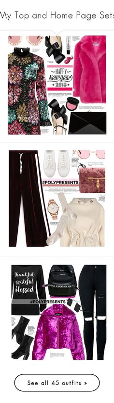 """""""My Top and Home Page Sets"""" by chocolate-addicted-angel ❤ liked on Polyvore featuring ATP Atelier, Millie Mackintosh, Jakke, Delpozo, Gucci, Rocio, Bobbi Brown Cosmetics, Cricut, Anja and MISBHV"""