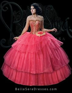 851af72ae94 Style BS-1531 This coral tangerine Bella Sera Dress is simply delightful.  The corset