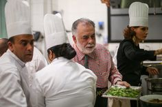 Director Francis Coppola served as chef for Dior dinner in Marrakech #royalmansour #franciscoppola #cooking #chef #diordinner #marrakech #morocco