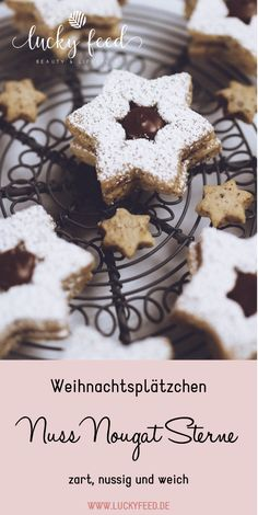 Nut nougat star recipe – super tasty – cookies – Christmas cookies – Famous Last Words No Bake Cookies, Yummy Cookies, Cupcake Cookies, Baking Cookies, Russian Pastries, Russian Dishes, Baking Recipes, Cookie Recipes, Healthy Recipes