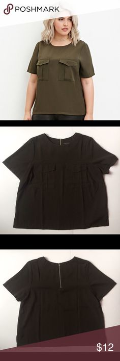 NWOT F21+ Two-pocket zipped top This Forever 21 Plus Size is NEW  It has two functional pockets in the front and added zipper closure detailing in the back  100% polyester  💕Add to a bundle for an automatic discount or make an offer.  🌵If you bundle your likes together I can also send you a private discounted offer.  💕Please comment below for any questions! Forever 21 Tops Blouses