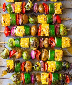 Grilled Fajita Vegetable Skewers - A healthy vegetarian skewer recipe loaded wit. - Grilled Fajita Vegetable Skewers – A healthy vegetarian skewer recipe loaded with fresh summer ve - Grilled Vegetable Kabobs, Grilled Vegetables, Grilled Fruit, Grilled Skewers, Grilled Vegetable Recipes, Grilled Vegetable Skewers, Grilled Recipes, Summer Vegetable Recipes, Steak Kabobs