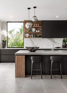 Modern Kitchen Interior Remodeling The luxury kitchens in this collections come in a wide variety of natural and stained wood finishes as with ease as any paint color