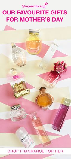 Why not treat your mum to her favourite, classic fragrance to remind her of those special moments you've shared. If your Mum is more adventurous, introduce her to something new with one of Superdrug's amazing luxury fragrances from Marc Jacobs, Paco Rabanne and Gucci.