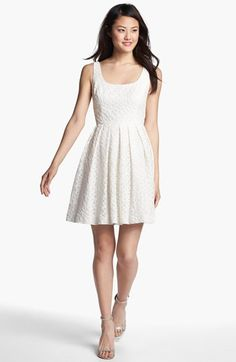 Donna Morgan 'Natalie' Lace Fit & Flare Dress available at #Nordstrom can you wear tulle under a dress?