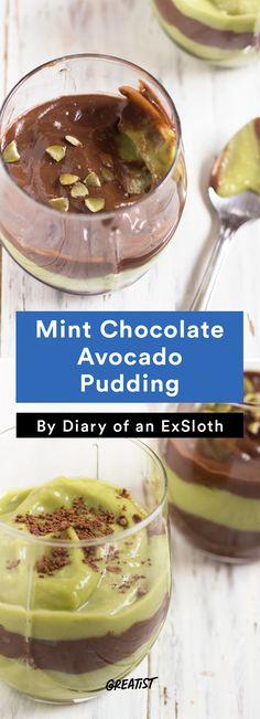 6. Mint Chocolate Avocado Pudding #healthy #avocado #recipes http://greatist.com/eat/healthy-avocado-recipes