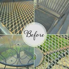 How to Refinish Wrought Iron Patio Furniture is part of Painting patio furniture - Wrought iron patio furniture has a timeless style IF you maintain its finish The good news is that it is super easy and inexpens Refinished Patio Furniture, Painting Patio Furniture, Patio Furniture Makeover, Metal Patio Furniture, Patio Furniture Cushions, Iron Furniture, Patio Chairs, Furniture Ideas, City Furniture