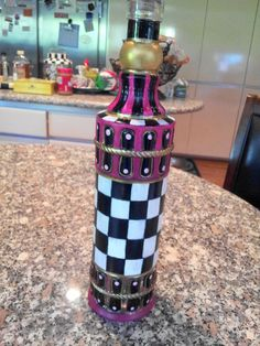 Hand Painted Oil Bottles by krystasinthepointe on Etsy