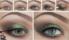 Girls would love to try fascinating green eye makeup for green eyes. You need to follow this tutorial for prom or party makeup.