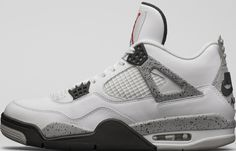 Air Jordan 4 Retro White/Fire Red-Tech Grey-Black