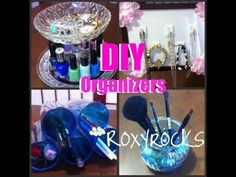 4 ORGANIZERS DIY for your make up nail polishes and accessories!!!