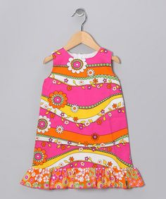 Take a look at this Pink & Orange Garden Shift Dress - Infant, Toddler & Girls by Corky's Kids on #zulily today!