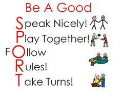 Speech Everyday: Be A Good Sport