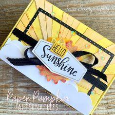 Handmade Greetings, Greeting Cards Handmade, Box Of Sunshine, Stampin Up Paper Pumpkin, Pumpkin Cards, Paper Crafts, Diy Crafts, Craft Club, Cool Cards