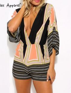 KLJR Women Mesh Stitching Long Sleeve Bodysuit Zip Front Fashion Short Jumpsuit Romper