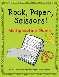 "Rock, Paper, Scissors- Each player gets even amount of cards then they flip over one card, answer the muplication problem and then the winner determies off the ""key"""