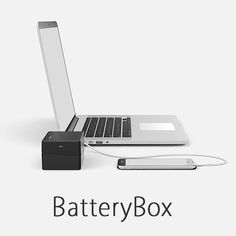 Give yourself the freedom to work anywhere. BatteryBox is a small, portable battery that can power your MacBook, or charge any device through the built-in USB output.
