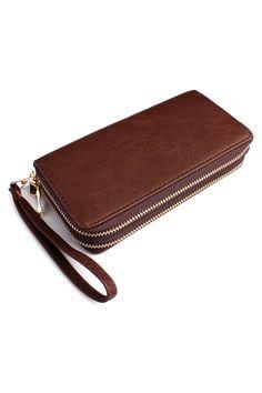 Classic Double Zipper Wallet