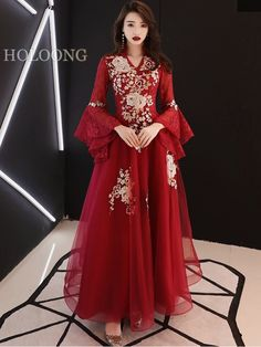 10 Stunning Dresses for Non-Traditional Brides Red Chinese Dress, Chinese Wedding Dress Traditional, Traditional Fashion, Traditional Dresses, Chinese Style, Wedding Dress Brands, Wedding Dresses For Sale, Wedding Dress Styles, Chinese Wedding Dresses