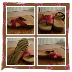 👡NWOB Red Genuine Leather Sandals Size 10 M 👡 NWOB Genuine Leather Red Sandals Size 10 Medium. The Brand Is Aerosoles. These Are In Excellent Condition Never Worn. There's A Cushioned Insole For Added All Day Comfort 🚫 NO PAYPAL 🚫 TRADES 🚫 OFFERS FINAL MARKDOWN 👡 AEROSOLES Shoes Sandals