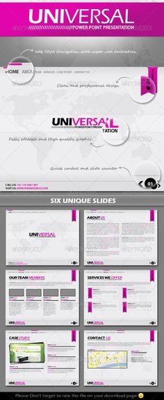 Universal Power Point Presentation Template