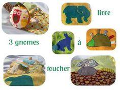 Dans le livre à toucher version garçons. overview of the tissue book for little boy.