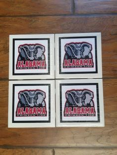 Home Decor Alabama Football Coasters Set Of 4, Alabama Football Decorative  Ceramic Picture Tiles, Coasters Alabama Football Image Gift By  TSHeartsDesire374 ...