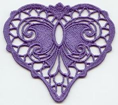 2D Free Standing Lace Victorian Heart
