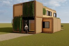 Modulair uitbreidbaar, geschikt voor studenten, gebaseerd op containermaten. Super circulair ontwerp. Meer weten? Tiny House, Outdoor Structures, Mansions, House Styles, Home Decor, Students, Decoration Home, Room Decor, Fancy Houses