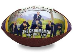 Visit www.makeaball.com to design your own unique gift today. Great gift for your sports fan #groomsmen !! Especially when #football is in season right now #makeaball #wedding #custommade
