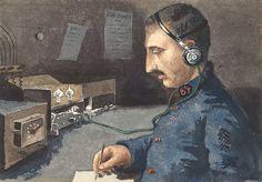 Watercolour by Henri Houblain. Europeana 1914-1918, CC BY-SA