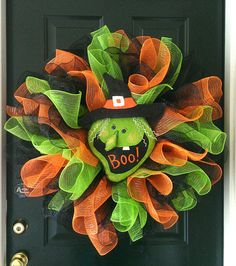 Bewitched Halloween Deco Mesh Wreath on Etsy, $49.00