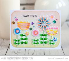 Doodled Blooms Card Kit, Blueprints 31 Die-namics - Anna Kossakovskaya  #mftstamps