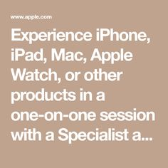 Experience iPhone, iPad, Mac, Apple Watch, or other products in a one-on-one session with a Specialist at an Apple Store. Reserve your time now. Mens Leather Tote Bag, Apple Shop, Apple Inc, Apple News, Cookie Bars, Apple Watch, Mac, Technology, Electronics