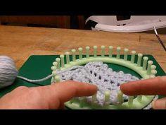 Drie-stap-steek heen en weer gebreid breiring - YouTube
