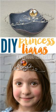 DIY Princess Tiara at happyhourprojects.com