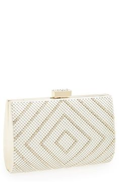 Trendy tribal gold and white clutch for #prom