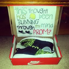 creative promposal for that one girl who actually runs and actually enjoys it. ❤️ #prom #promposal #cute