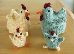 What I originally set out to make before I became thoroughly distracted by the tiny chicken pattern was an egg cosy for my kids' Easter eggs. I couldn't find exactly what I was envision…
