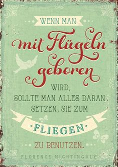 Postkarte - mit Flügeln geboren Body And Soul, Great Memories, Wise Words, Hand Lettering, Quotations, Funny Quotes, Mindfulness, Inspirational Quotes, Wisdom