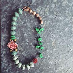Funky Cold Medina Chunky Beaded Necklace in by LoreleiEurtoJewelry