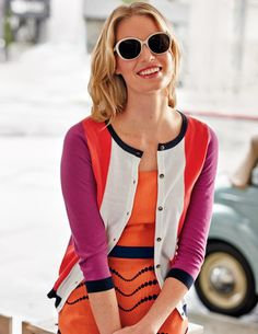 Summer Colour Block Cardigan