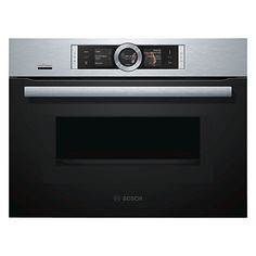 Buy Bosch CMG676BS6B Built-In Combination Microwave Single Oven with Home Connect, Brushed Steel Online at johnlewis.com