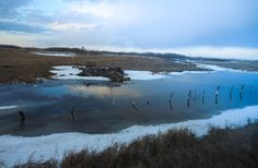 Reflections after dawn. #Manitoba #Canada #viarail
