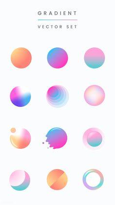 Colorful gradient badge vector set premium image by rawpixel com taus - Graphic Design Trends, Graphic Design Posters, Graphic Design Illustration, Graphic Design Inspiration, Character Illustration, Color Secundario, Logo Color, Leaflet Design, Grafik Design