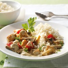 Mushroom Pan with Chicken Recipe WW Germany – Holidays Poulet Weight Watchers, Plats Weight Watchers, Weight Watchers Chicken, Weight Watchers Meals, Veal Recipes, Salad Recipes, Chicken Recipes, Healthy Recipes, Cheese