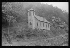 Church also used for union hall in coal mining town, Caples, West Virginia, 1938.